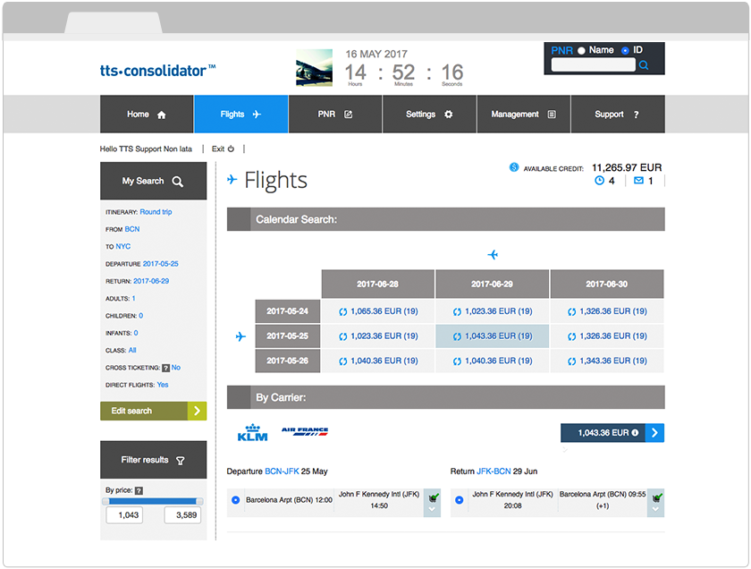 TTS-Consolidator_Calendar-Search_RoundTripFlightResults