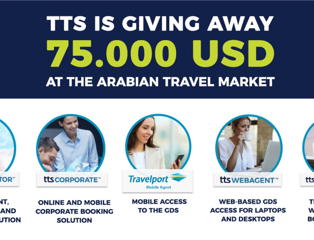 TTS is giving 75.000 USD at the Arabian Travel Market